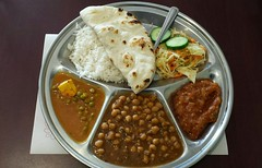 Delicious Vegetarian  Indian Thali