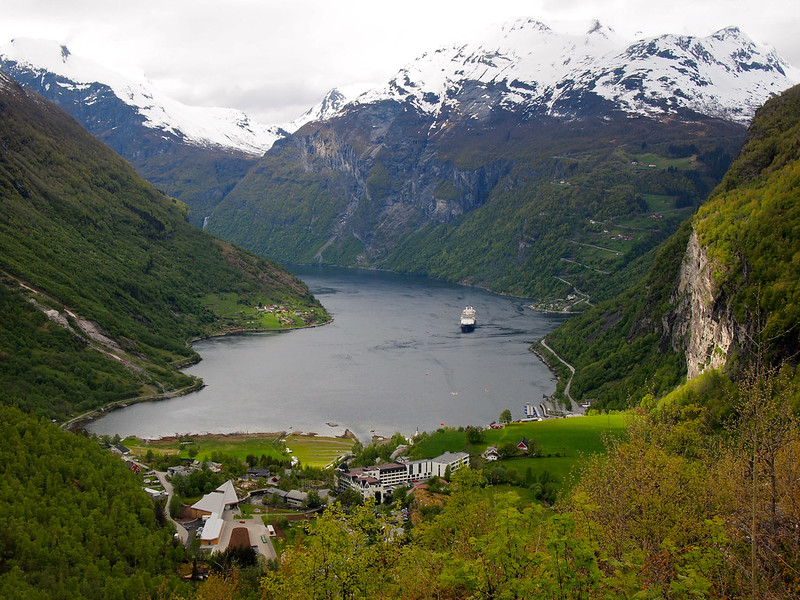 View of Geiranger from Flydalsjuvet