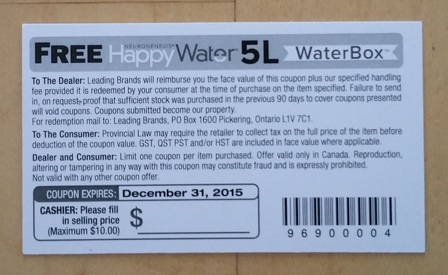 Happy Water 5L coupon