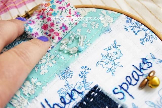 When Love Speaks - stitch improv