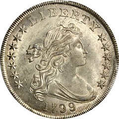 1799-8 Draped Bust Silver Dollar obverse