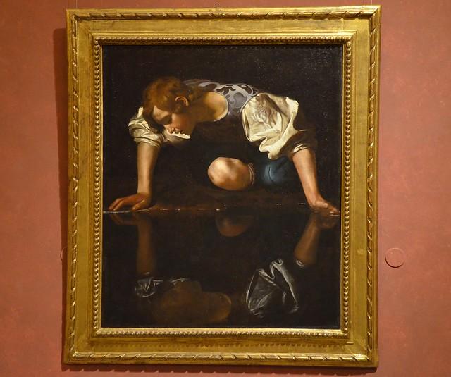 Narcissus by Caravaggio, 1597–1599, Galleria Nazionale d'Arte Antica