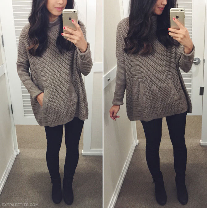 loft slouchy poncho sweater petites