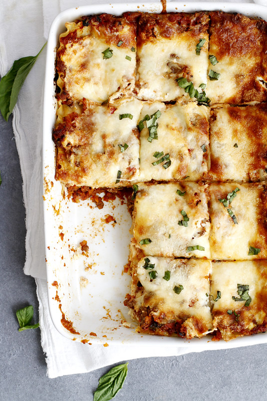 Lighter Lasagna Bolognese | girlversusdough.com @girlversusdough #pasta #dinner #healthy #HealthyPastaMonth #spon