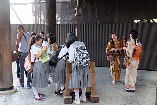 Japanese ceremonial dress and japanese schoolgirls