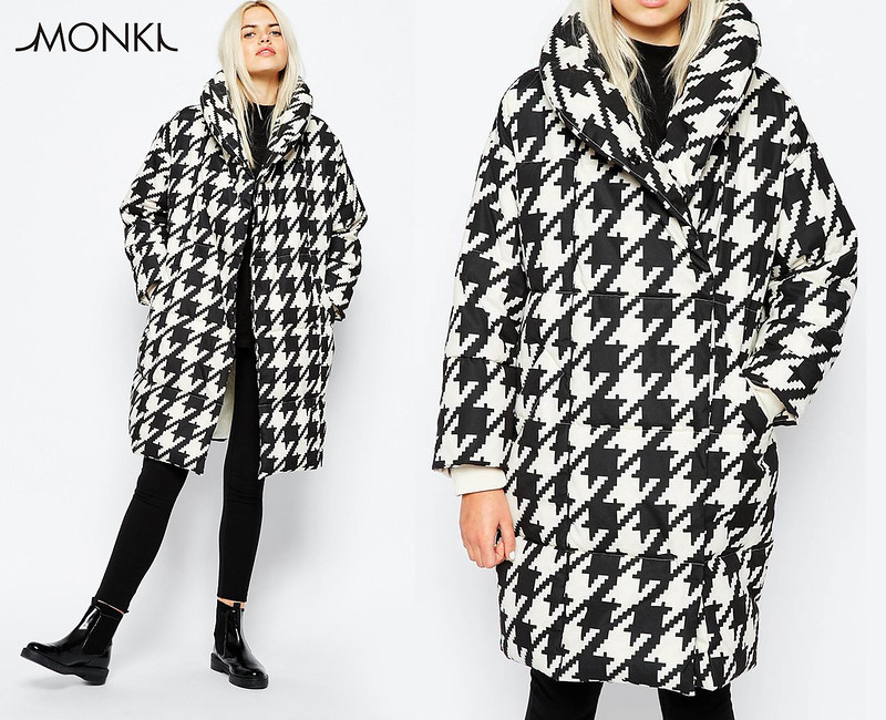 Monki AW15 oversized houndstooth coat
