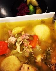 Rainy day comfort: matzo ball soup