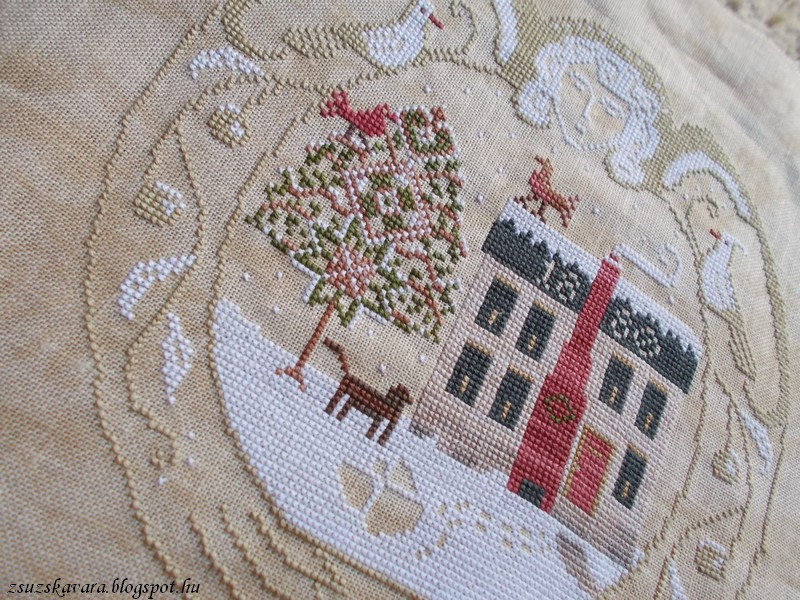lone elm lane, snow angel, christmas, cross stitch (2)