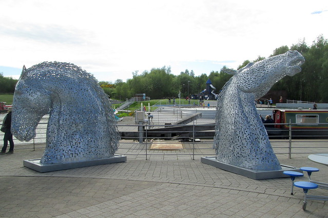 Mini Kelpies at Falkirk Wheel