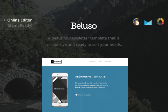 Creativemarket Beluso - Email Newsletter + Builder
