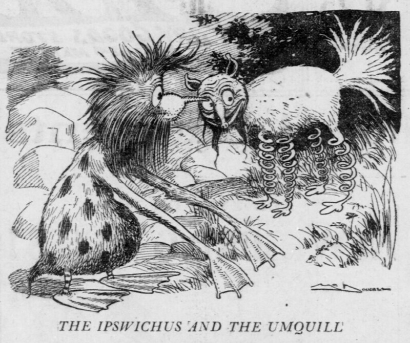 Walt McDougall - The Salt Lake herald., February 26, 1905, The Ipswichus And The Umquill