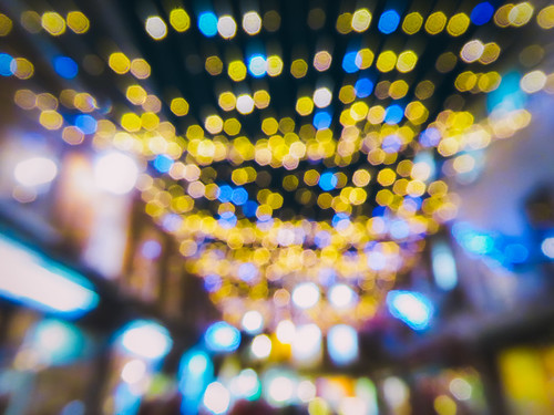 Bokeh of colors as you look by