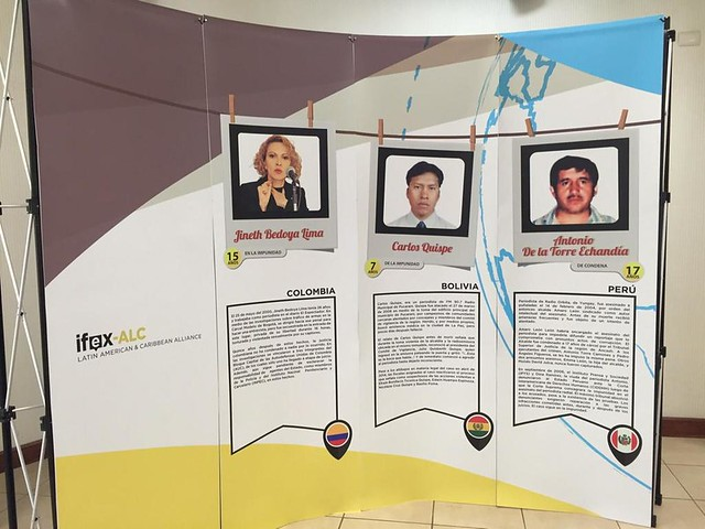 FLIP and IFEX-ALC's display on Impunity in Latin America.