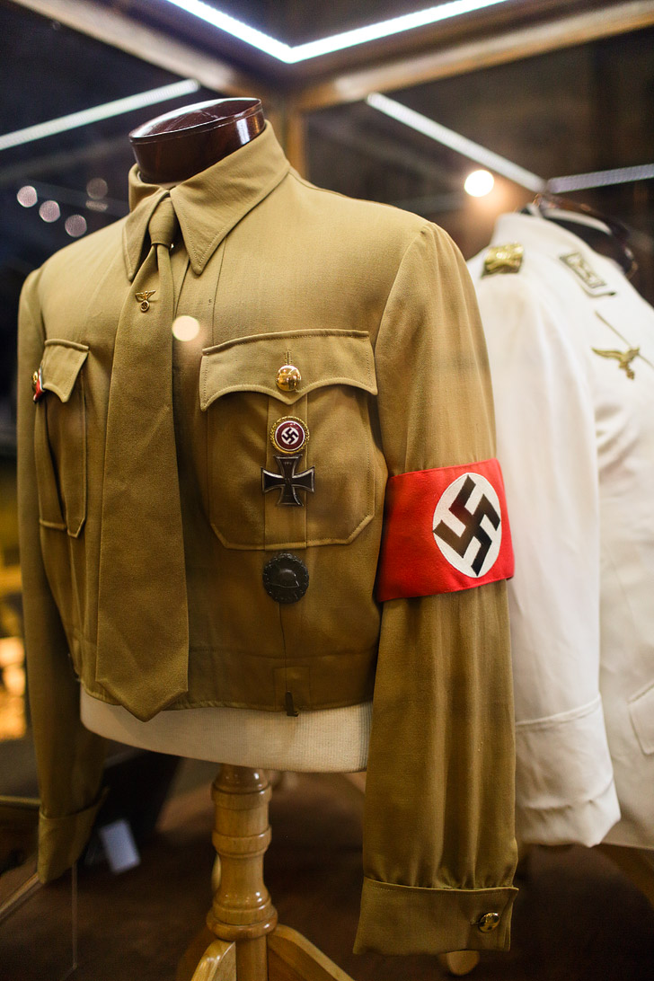 Hitler's Uniform at in the World War II exhibit at the San Diego Air and Space Museum in Balboa Park.