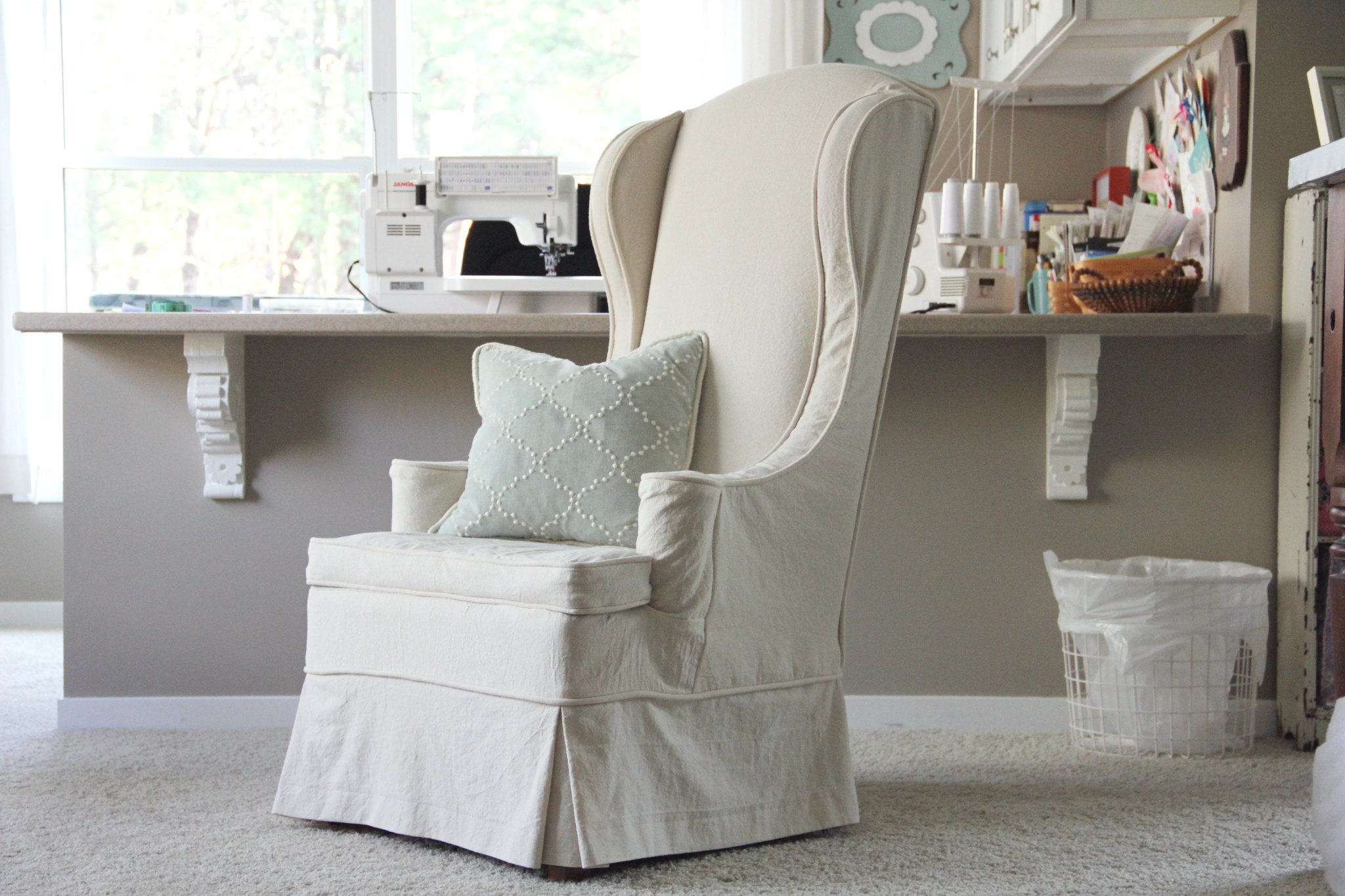 twin fibers My Sewing Workroom and Wingback Chair Slipcovers
