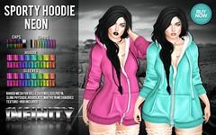 !NFINITY Sporty Hoodie - NEON