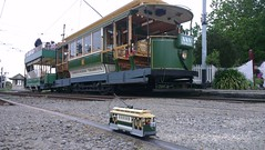 My tram with its inspiration at Ferrymead