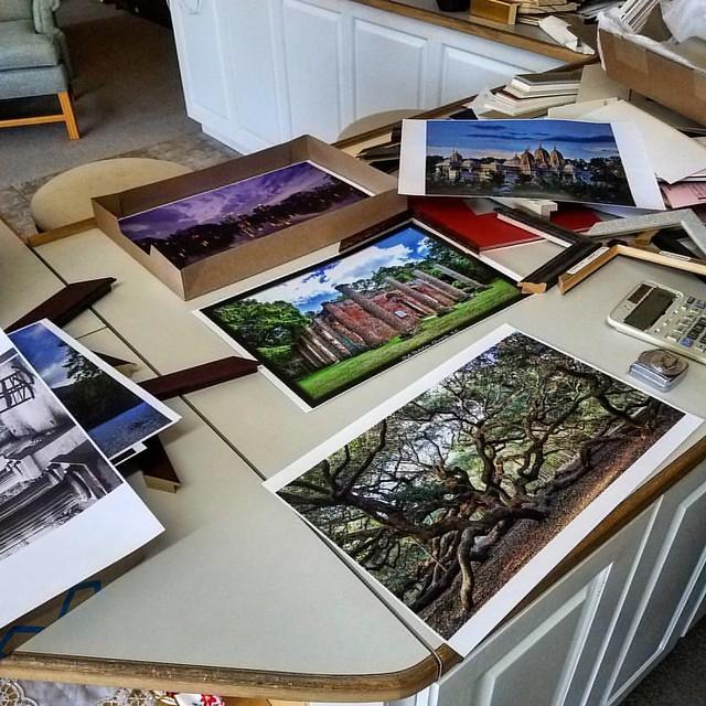 Framing some art.