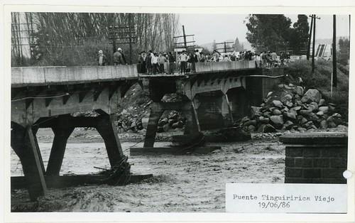 Chile 1986 - Temporales: Puente Tinguiririca Viejo