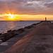 South Breakwater Sunset - Ludington Michigan by Craig - S