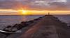 South Breakwater Sunset - Ludington Michigan