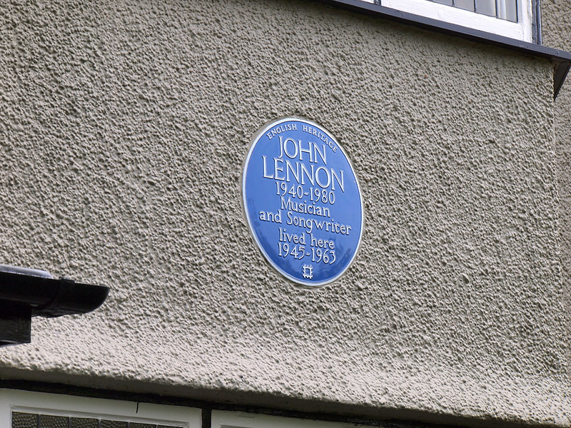 At John Lennon's childhood home in Liverpool