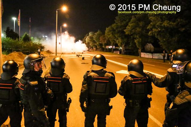 22.08.2015 - Heidenau (Sachsen) - Zweite Krawallnacht in Heidenau - Solidaritätsveranstaltung für Flüchtlinge!