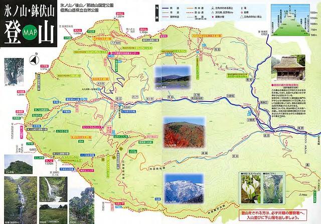 氷ノ山・鉢伏山 登山MAP