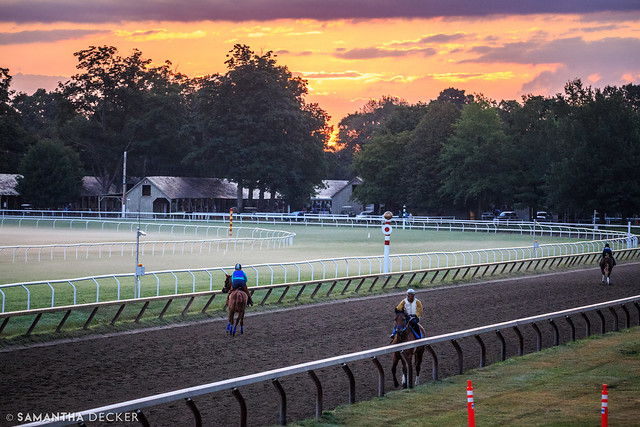 A Pink Sunrise at the Oklahoma Track