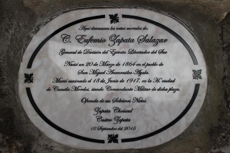Placa Eufemio Zapata