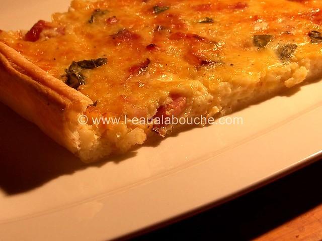 Quiche Fine au Basilic, Lardons & Oignons © Ana Luthi  Tous droits réservés 0010