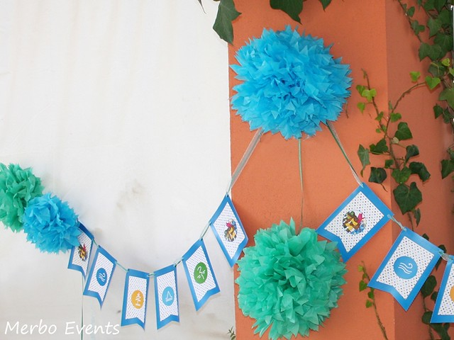 Guirnalda decoracion Gormiti Merbo Events