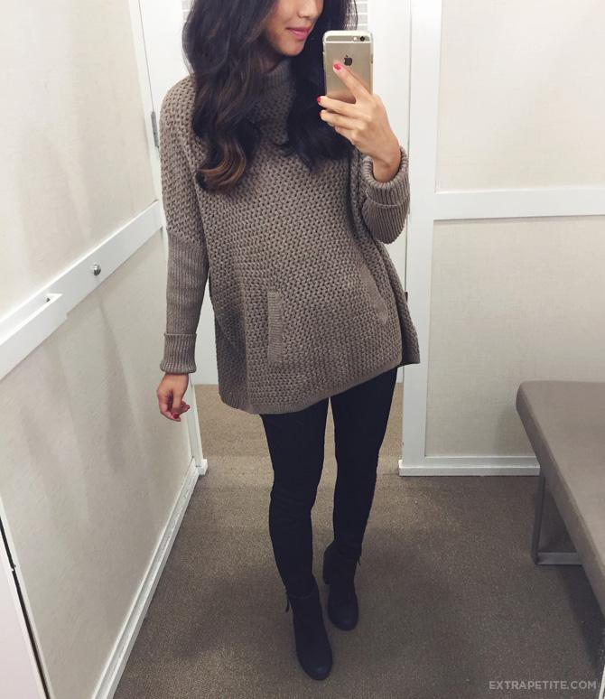 loft poncho sweater petites