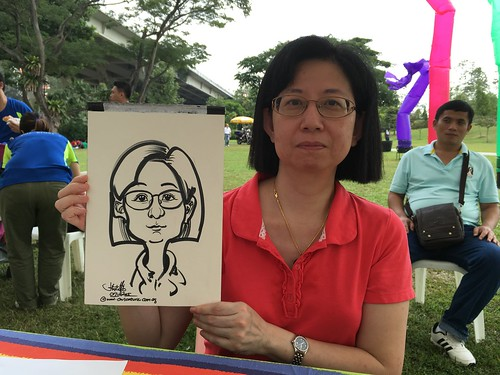 Caricature live sketching for GE Aviation Engine Services SINGAPORE Family Day 2015