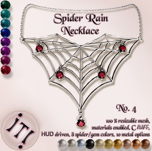 !IT! - Spider Rain Necklace 4 Image