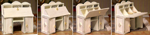 Miniature desk, table, writing-desk, bureau, secretaire for Realpuki.