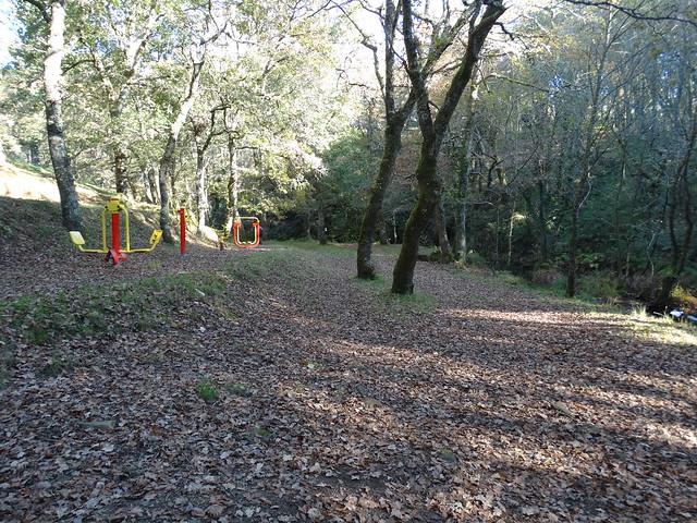 Parque en el área recreativa de Sete Muíños