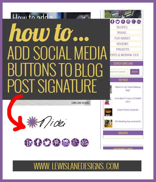 How to add a signature to your blog posts