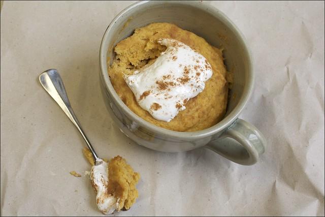 Mug Cake à la courge butternut