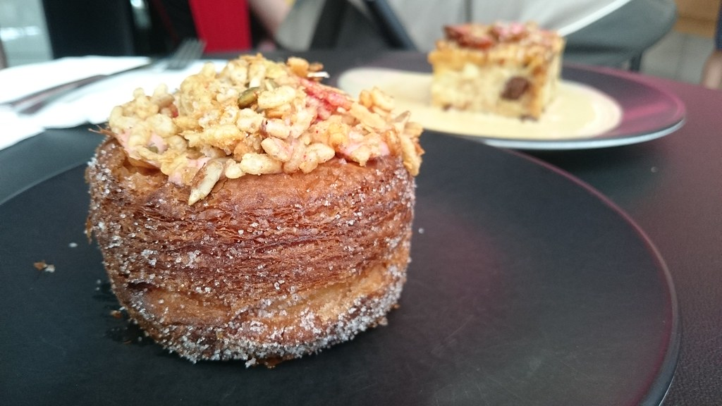 Strawberry granola zonut AUD5 - Zumbo, South Yarra