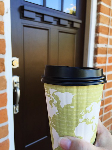 In celebration of getting a new front door, I decided to try a Kneaders Vanilla Chai Latte. I found it to be a bit too sweet for my liking. ☕️