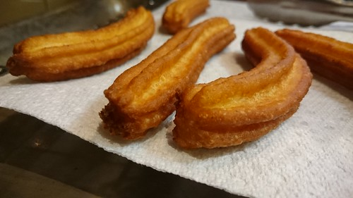 Churros with Chocolate-Dulce de Leche Dip