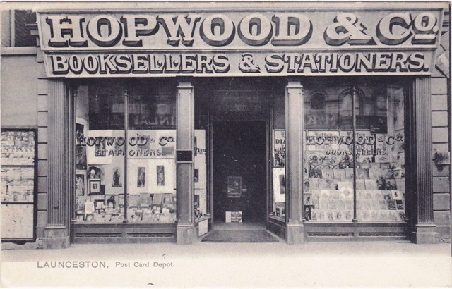 Hopwood & Co, Booksellers, Launceston, Tasmania - 1906