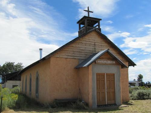 newmexico church architecture adobe smalltown trespiedras