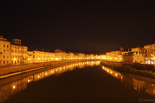tha Arno River at Night