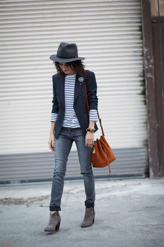 Outfit idea stripe tee