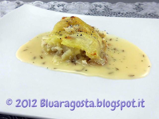04-millefoglie di coda di rospo e patate con salsa al limone e timo