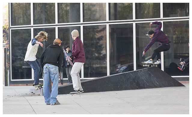 Skateboarders Downtown 1