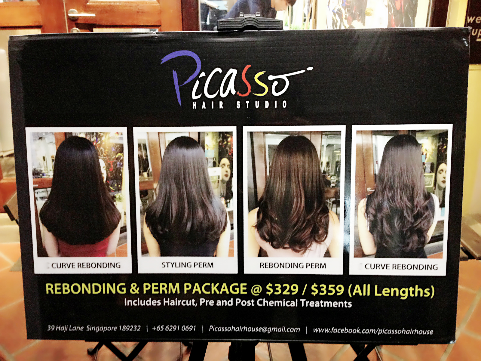 Review volume rebonding at picasso hair salon haji lane for C curl perm salon vim