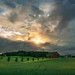 Askim, Norway 0255 - House in a cloudy Landscape at Sunset by IP Maesstro